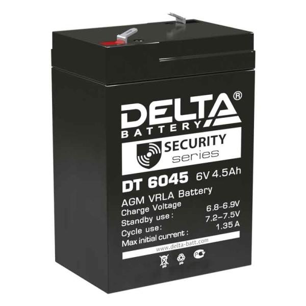 Аккумулятор Delta 6V 4,5Ah DT 6045