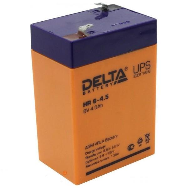 Аккумулятор Delta 6V 4.5Ah HR 6-4.5