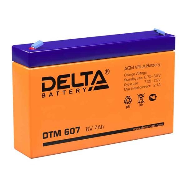 Аккумулятор Delta 6V 7Ah DTM 607