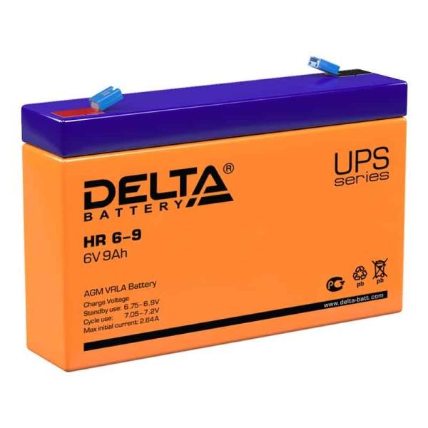 Аккумулятор Delta 6V 9Ah HR 6-9