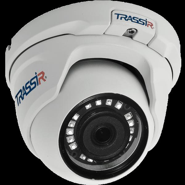 Миниатюрная купольная IP-видеокамера Trassir TR-D2S5 3.6 с ИК-подсветкой до 25м
