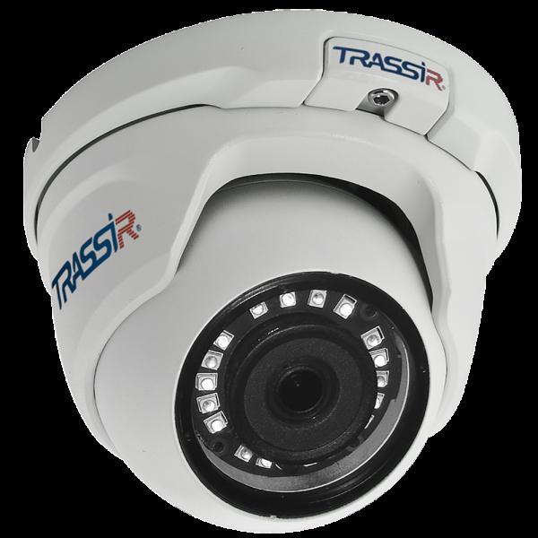 Миниатюрная купольная IP-видеокамера Trassir TR-D2S5-noPoE с ИК-подсветкой до 25 м
