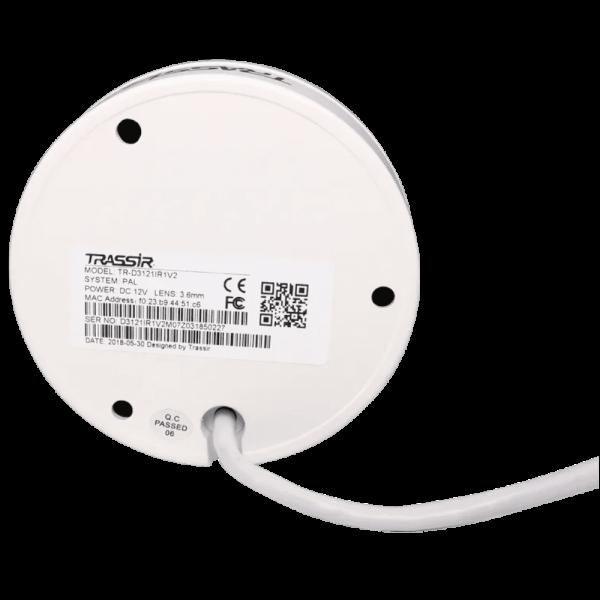 Купольная IP-видеокамера Trassir TR-D3121IR1 v4 2.8 c ИК-подсветкой до 15м