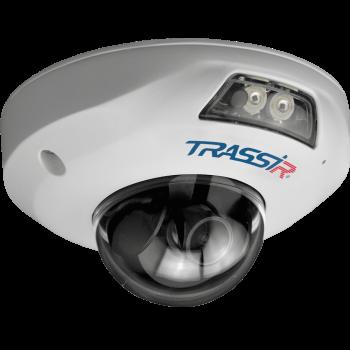 Компактная купольная IP-видеокамера Trassir TR-D4121IR1 v4 3.6 с ИК-подсветкой до 15м