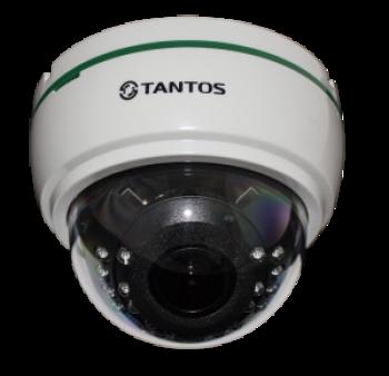 Купольная IP-видеокамера Tantos TSi-De25VPA (2.8-12) 2 Мп с ИК подсветкой 20м