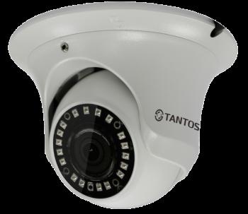 Купольная IP-видеокамера Tantos TSi-Ee25FP (2.8) 2 Мп с ИК подстветкой 20м