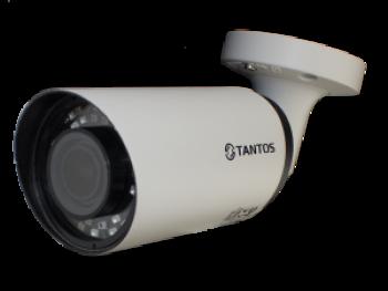 Цилиндрическая IP видеокамера TSi-Pe50VP (2.8-12) Tantos 5 Мп с ИК подсветкой до 35м