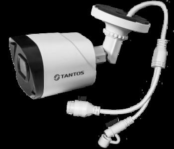 Цилиндрическая IP-видеокамера TSi-Peco25FP (3.6) Tantos 2 Мп с ИК подсветкой до 25м
