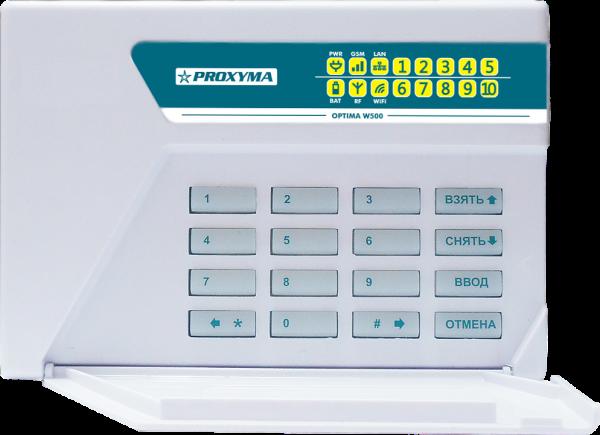 Объектовый прибор в корпусе клавиатуры PROXYMA W-500BWL Optima