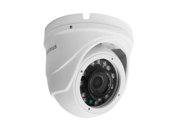 Купольная AHD-видеокамера Optimus AHD-H042.1(3.6)_V.2 с ИК-подсветкой до 20 м