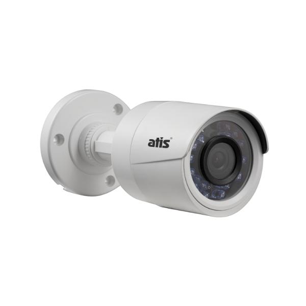 Компактная цилиндрическая MHD-видеокамера ATIS AMH-B12-2.8 с ИК-подсветкой до 20 м