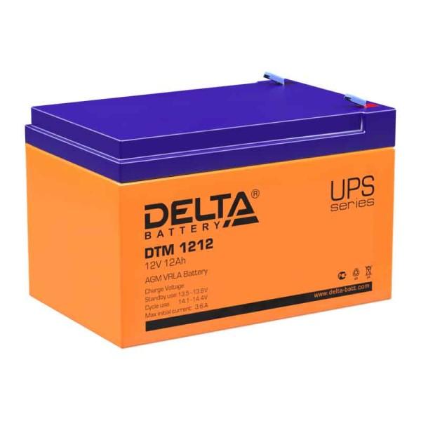 Аккумулятор Delta 12V 12Ah DTM 1212