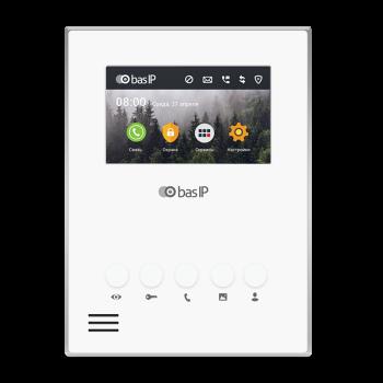 Монитор IP-видеодомофона BASE-IP AU-04LA WHITE