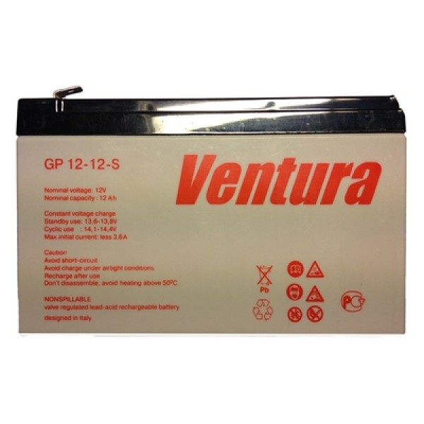 Аккумулятор Ventura 12V 12Ah GP 12-12-S