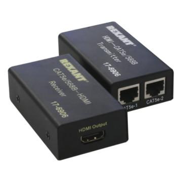 Rexant HDMI удлинитель по витой паре RJ-45(8P-8C) кат. 5е/6, передатчик+приемник